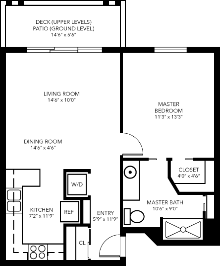 V-Esprit 1-Bedroom Apartment Floor Plan